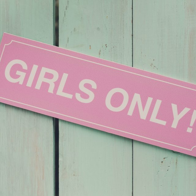 Hen party, feminine sign girls only. Photo booth backdrop, decoration